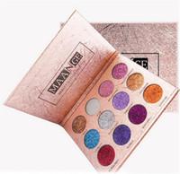melhor imprensa quente venda por atacado-New Hot Maquiagem Maquiagem 12 cores Diamante Pressionado Dourado Brilhante Sombra Shimmer À Prova D 'Água Brilho Fosco Sombra de Olho Paleta Melhor Preço