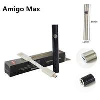 Wholesale 510 Thread Battery Vape Pen Amigo Max E Cigarettes Vaporizer Pens Variable Voltage mah Preheat Batteries Original USB Charger Cable