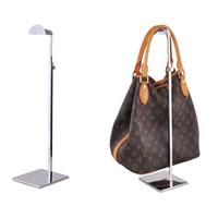 Wholesale Women Handbag Rack - Adjustable Metal Handbag Display Rack Women Handbag Bag Display Stand Holder wig hat scarves hook stand LZ1425
