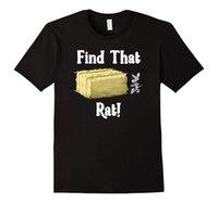 ingrosso stili di fienile-Camicia di Huntinger Barn Huntinger divertente del cane del ratto - regalo per amore animale Buona qualità del cotone di marca stile fresco delle camice fresche Progettazione fresca