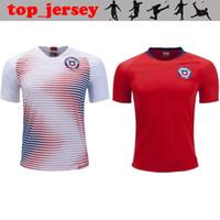 camisa roja al por mayor-Camiseta de fútbol para hombre de Chile de 2019 19 20 ALEXIS casa rojo visitante blanco VALDIVIA VIDAL H.SUAZO MEDEL E.VARGAS Camiseta de fútbol de la copa del mundo de Chile 2020