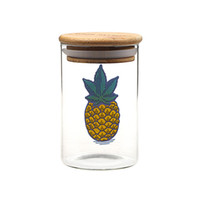Wholesale smoke clothes for sale - Smoking Dogo Herb stash jar hand blown glass dank storage Small custom concentrate jar humboldt clothing co glass uv container dab