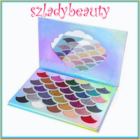 Wholesale Hot Girl Water - New hot sell a girl makeup palettes cleof cosmetics the mermaid glitter palette eyeshadow VS beauty eyeshadow 660248