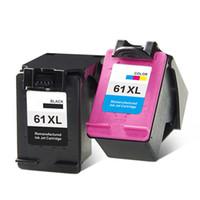 hp kartuşu doldurulabilir toptan satış-Büyük Kapasiteli Siyah renk 61XL HP Deskjet 1000 1050 2000 2050 3000 Yazıcı için Doldurulabilir Mürekkep Kartuşu