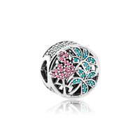 4be22fc62260 Auténticos accesorios de joyería de plata esterlina 925 perlas europeas  caja original para Pandora pulsera brazalete de la selva tropical flamencos  encantos