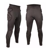 sünger kıyafetleri toptan satış-Dünya Kupası Erkekler Futbol Kaleci Pantolon Şort Sünger Koruma Ince Sıska Eğitim Futbol Kaleci Goalie Giyim Sweatpants