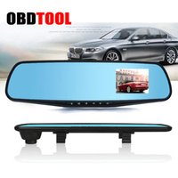 Wholesale car driving video recorder - 3.0 Inch Rearview Mirror Night Vision Driving Recorder Car DVR Video Recorder Camcorder Rear View Mirror Camera Dash Cam JC20