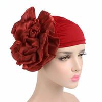 Wholesale Green Flower Street - 2017 NEW Women king flower turban cap chemo beanie for Cancer Patients Ladies Bandanas Turbante free shipping