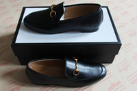 Wholesale genuine leather real for sale - Group buy NEW Fashion Man Designer black loafers Slim shape real leather mens and women driving loafers princetown Horsebit top quality original box