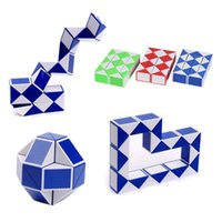 Wholesale toy snake game online - Mini Magic Cube Kids Creative D Puzzle Snake Shape Game Toys D Cube Puzzles Twist Puzzle Toys Random Intelligence Toys DHL