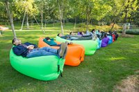 Wholesale Kids Sleeping Bag New - New Portable Inflatable lounger Bag Air Sofa Sleeping Beach Bed Outdoor Lazy Bag Thicker Portable Air Bed Sleeping Sofa Couch