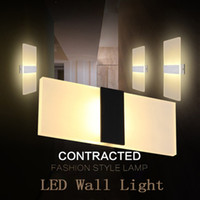 ingrosso illuminazione a parete-Moderna lampada da parete a led AC90-260V 3W 6W 9W 12W Parete Applique da interno luce scale camera da letto comodino soggiorno casa corridoio