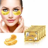 cara de máscara preta para venda venda por atacado-100 pcs = 50 pacotes de Ouro Máscara de Olho De Cristal De Colágeno Máscara Anti Envelhecimento Venda Quente Remendos Olho Anti-Rugas Para O Rosto Remover o Olho Preto