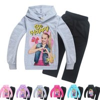 Wholesale children hooded tracksuits online - Children JOJO tracksuit years Girl Clothing Sets Children tracksuits Girls Clothes Hoodies Sweatshirt Pants Kids Sport Suits KKA6103