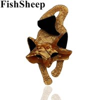 модные ювелирные броши оптовых-FishSheep Lovely New Acrylic  Brooches For Women Fashion Acetate Fiber Animal Brooch Pins Broches Jewelry Female Accessories