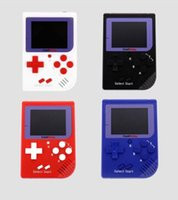 Wholesale fc game console - RS-6 Portable Retro Mini Handheld Game Console 8 bit Color LCD Game Player For FC Game free DHL