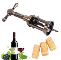 vino de aleación de zinc al por mayor-Aleación de zinc conveniente abrelatas del vino rojo sacacorchos abrebotellas removedor de tirador de corcho Champagne abrelatas accesorios de Barware