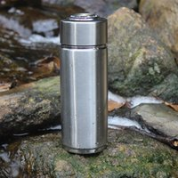 Wholesale portable ionizers - Portable Alkaline Water Ionizer Bottle 304 Stainless Steel with replaceable filter Nano Energy Flask Alkaline Water Bottle