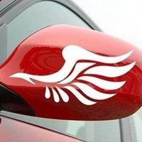 Wholesale wings decor for sale - Group buy 1 Pair Auto Motorcycle Sticker Car Sticker and Decal cm Wings Pattern Rearview Mirror Decor Car Styling