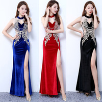 Wholesale sexy bar uniforms - Autumn winter Latest style Nightclub Bar Female singer dancer DJ DS Costume Party sexy lace perspective dress Club stage performance uniform