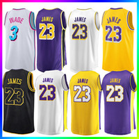 23 LeBron James Men Youth Kids Los Angeles Lakers Basketball Maglie 3 D  Wade 11 Kyrie Irving 77 Doncic Mens Maglia da basket 532a1b04ad80