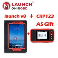 Wholesale v8 toyota - 2018 Launch X431 V8 inch Free Update X-431 V Pro X431 Pro WiFi Bluetooth OBD2 Diagnostic-Tool crp 123 as gift free shipping