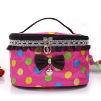 Wholesale Retro Makeup Case - New Makeup Cosmetic Bags Retro Beauty Wash Case Zipper Handbag Makeup Bags