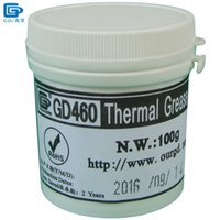 Wholesale Thermal Compound Processor - GD460 Thermal Conductive Paste Grease Silicone Plaster Heat Sink Compound Silver Net Weight 100 Grams For LED CPU Cooler CN100