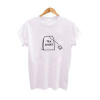 Wholesale tea clothes online - Humor Tea Shirt Graphic Tees Women Clothing Summer Funny T Shirts Harajuku Tumblr Hipster Ladies T Shirt