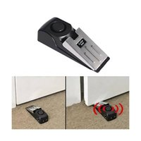 Wholesale wireless security siren - Door Stop Alarm Safety Wedge Burglar Alert dB Loud Siren Gate Security Block