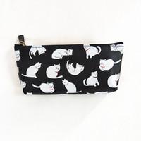 кошелек для кошелька оптовых-M252 Cute Women Purses Lovely Cat Candy Color Jelly PU Pencil Bag Coin Purse Wallet Card Bag