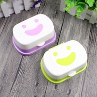 boîte à savon voyage achat en gros de-1 pc nouvelle arrivée voyage à la main boîte à savon boîte à savon plats étanche boîte à savon étanche avec serrure boîte couvercle couleur aléatoire