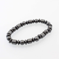 Wholesale Magnet Stones - Hot Selling New Beautiful Popular Black Stone Magnetic Magnet Bracelet Hematite Bracelet Black Stone Magnet Bracelet HJ175