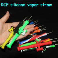 Wholesale tip silicone bong for sale - Group buy Silicone Nectar Collector kit mm Nector with GR2 Titanium Nail Tips Dab Rig Bong Carb Caps Oil Rigs Concentrate Honeystraw NC Straw Pipe