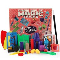 Wholesale toys trick box - Magic Tricks Playset Jumbo Box of Magic Tricks Collections Beginner Play Set 45+ Magic Kits Learning Toys for Kids