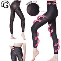 Wholesale slim slender slimming - Women Massage full legs Shaper Slimming thigh Leg calories Slender panties lift Buttock up Hip Pants