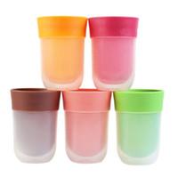 Wholesale Pottery Bottles - Creative Juice Bottle Portable Plastic The Right Cup Magic Fruit Flavored Mug Multi Color 16xz C R