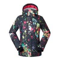ingrosso scarpe da sci impermeabili delle signore-GSOU SNOW Ladies Ski Suit Winter Outdoor Single Double Board antivento impermeabile caldo traspirante giacca da sci vestiti di cotone