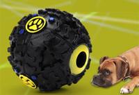 кошачий мяч оптовых-Собака игрушки Pet Puppy Sound ball утечки пищи мяч звук игрушка мяч собака кошка скрипучий жует щенок пищалка звук Зоотовары играть