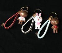 Wholesale cartoon lobsters - Man Key Chains boys and girls cartoons Rabbit Key Rings Findings Metal metal Keychain silver Lobster Clasp