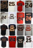 Wholesale red barry online - Vintage Barry Bonds Willie Mays Jersey Flexbase Coolbase San Francisco Baseball Jerseys Stitched