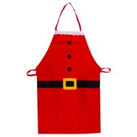 кухонные передники для детей оптовых-2019 Kids Christmas Apron Decor Cute Children Decorative Apron For Kitchen Home Kitchen Cooking Baking Chef Red For Kids