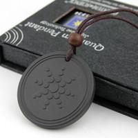 Wholesale scalar energy pendant resale online - Quantum Pendant Necklace Scalar Energy Pendant with Negative Ion Energy Pendant Black Lava Stone Jewelry Ion Science Bio Pendants