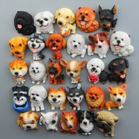 Wholesale cute animal magnets for sale - Group buy DIY Dog Refrigerator Sticker New Cute Cartoon Animal Shape Resin Fridge Magnets Home Decoration Many Styles yr T