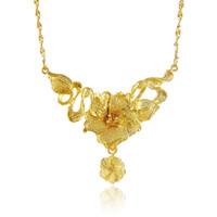 Rabatt Gold Hochzeit Halsketten Blumen Design 2019 Gold