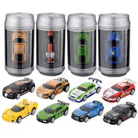 Wholesale led rc cars - Mini RC Racing Car 1:58 Coke Zip-top Pop-top Can 4CH Radio Remote Control Vehicle 2010B LED Light 8 Colors Toys for Kids Xmas Gift