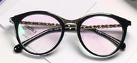 klasik açık toptan satış-Klasik kadınlar basit stil optik gözlük kedi göz tasarım çerçeve şeffaf lens popüler moda temizle gözlük 3349
