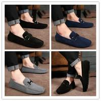 мужчины досуг обувь цена оптовых-Оптовая цена Мода Мужчины Скольжения на Досуг Плоские Туфли Классические Мужские Мокасины Мокасины Вождения Бизнес Повседневная Обувь AKK0521