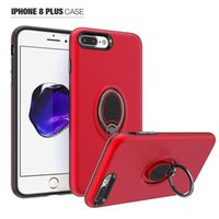 Wholesale sale armor for sale – best Hot Sale Hybrid Armor Case for iphone s plus plus Degree Finger Ring Stand Magnetic Shockproof Case