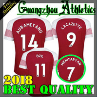 Wholesale Free Soccer Jerseys - 2018 Gunners OZIL AUBAMEYANG soccer jersey 18 19 ALEXIS WILSHERE GIROUD LACAZETTE CHAMBERS XHAKA home football shirt free shipping
